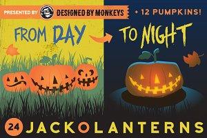 Day-to-Night Jack-o-lanterns
