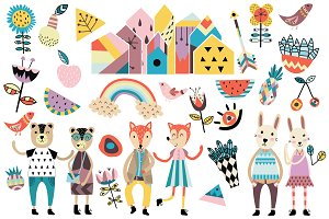 Cute scandinavian style elements