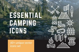 60+ Essential Camping Icons