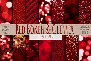 Red bokeh and glitter