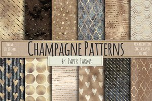 Champagne pattern digital paper