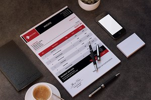 (40% Off) Simple & Clean Invoice