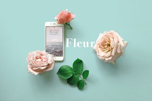 Floral Rose iPhone 7 Mockup