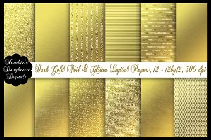 Gold Foil (Rich Color)Digital Paper
