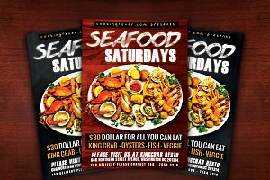Seafood Saturdays Flyer