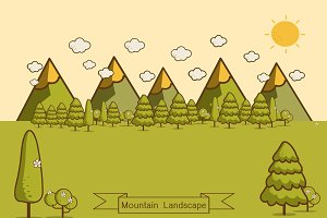 Mountain landscape creative vector