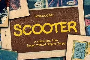 Scooter | Comic Font [+ Freebies]