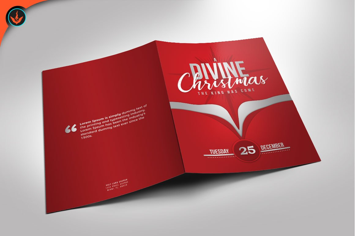 Crimson Pastors Anniversary Program Brochure Templates Creative