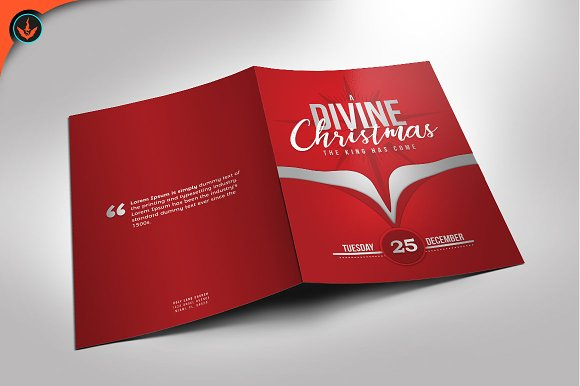 A divine christmas program template brochure templates a divine christmas program template brochures pronofoot35fo Gallery