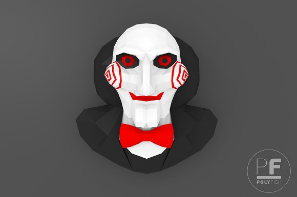 Diy Billy The Puppet Jigsaw 3d Model Templates Creative Market