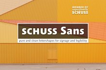 10 Fonts Schuss Sans Pro/GRK/CYR
