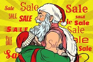 Sale, elf makes Santa Claus tattoo