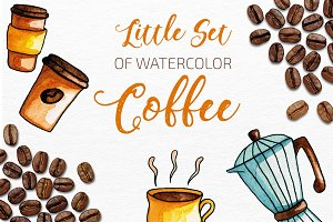 Coffee Watercolor Set