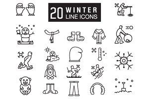 winter line icon