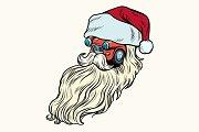 isolated  Car Santa Claus Christmas character