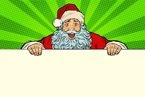Santa Claus white background banner