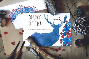 Oh, My Deer! - Christmas Clipart
