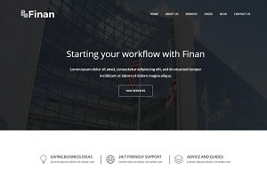Finan -Finance And Business Template