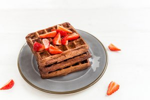Homemade Chocolate Belgium Waffles