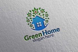 Green Home, Real estate Logo