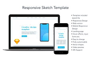 Responsive Sketch Template