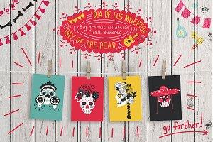 Dia de los Muertos- graphic, brushes