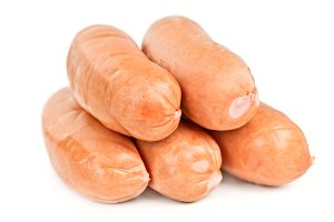 Five sausages