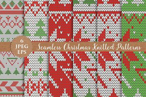 CHRISTMAS KNITTED seamless patterns