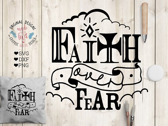 View Faith Over Fear Svg Dxf Png Eps SVG