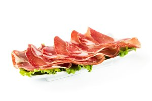 Thinly sliced ​​ham