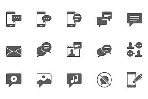 Set of Message Vector Icons