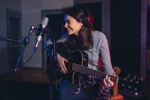 Professional musician recording