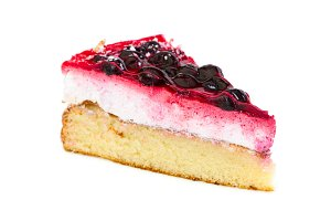 Piece of cake with black currant