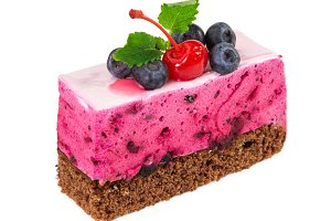 Piece of blueberry cake