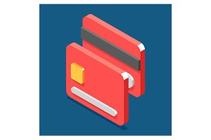 Isometric credit card icon