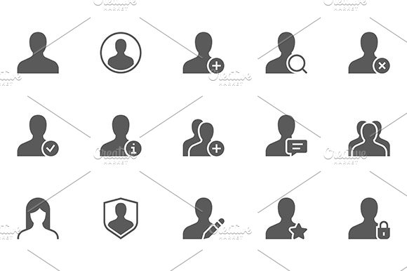 Users And Avatars Vector Icons