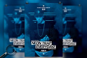 Neon Trap Everydayz | Flyer Template