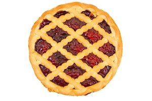Pie with cherry jam