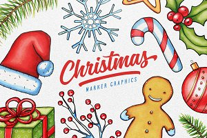 Christmas Marker Graphics Set