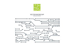Vector Microchip background