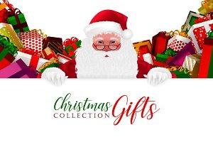 Christmas Gifts set & Santa Claus