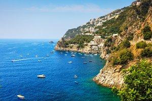 Amalfitan coast near Positano Italy
