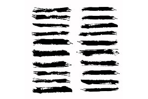 Brush strokes template