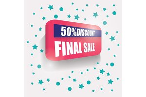 Sale banner. Vector Background Banner