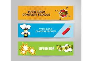 Vector comic Banners
