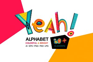 Yeah! - alphabet & set of words