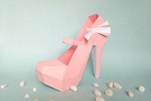 DIY Pump Shoes - 3d papercraft