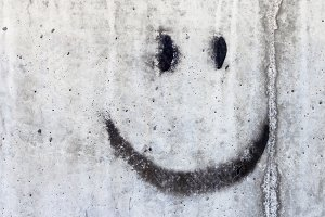 Smiley on the wall