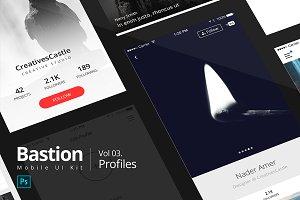 03 Profiles | Bastion Mobile UI Kit