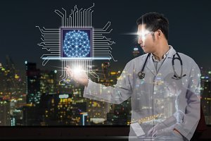 technology physician concept
